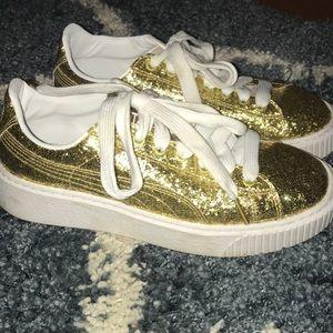 Glitter puma sneakers